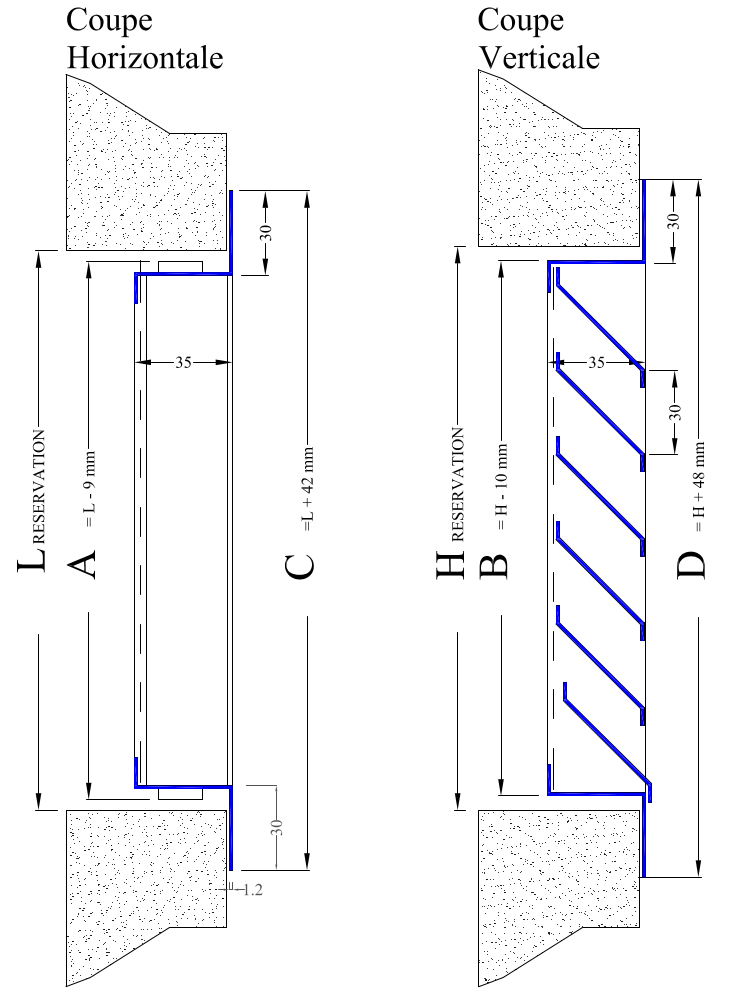 La Ventilazione GL30B Grille de ventilation rectangulaire en t/ôle vernie blanche /à superposer Dimensions 340 x 140 mm